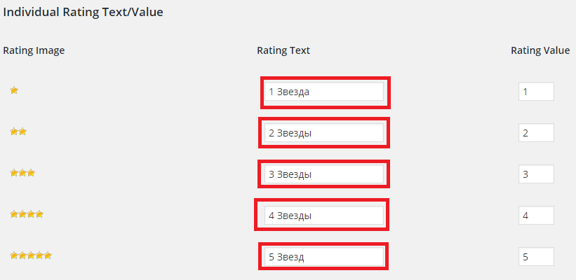 Как сделать рейтинг на сайт 768