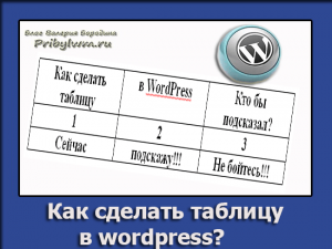 Как сделать таблицу в wordpress