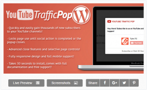 YouTube TrafficPop for WordPress