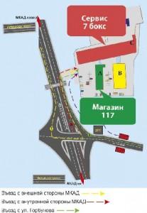 карту расположения магазина