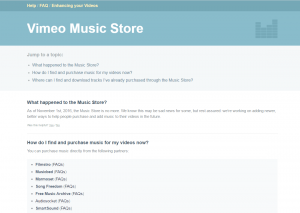 Vimeo Music Store