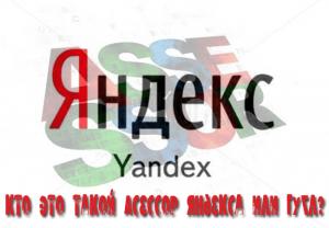 Асессор Яндекса это