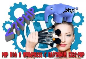 вставить php в wordpress