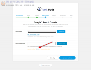 link for getting your site verified