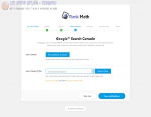 rank math search console verification step