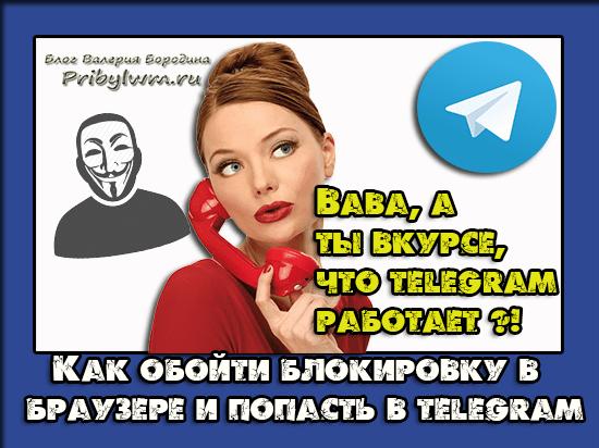 как открыть телеграм