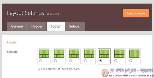 Truemag Footer layouts