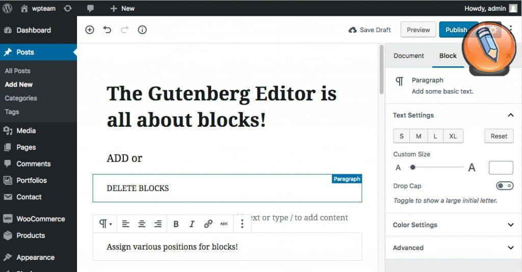 WordPress Gutenberg1