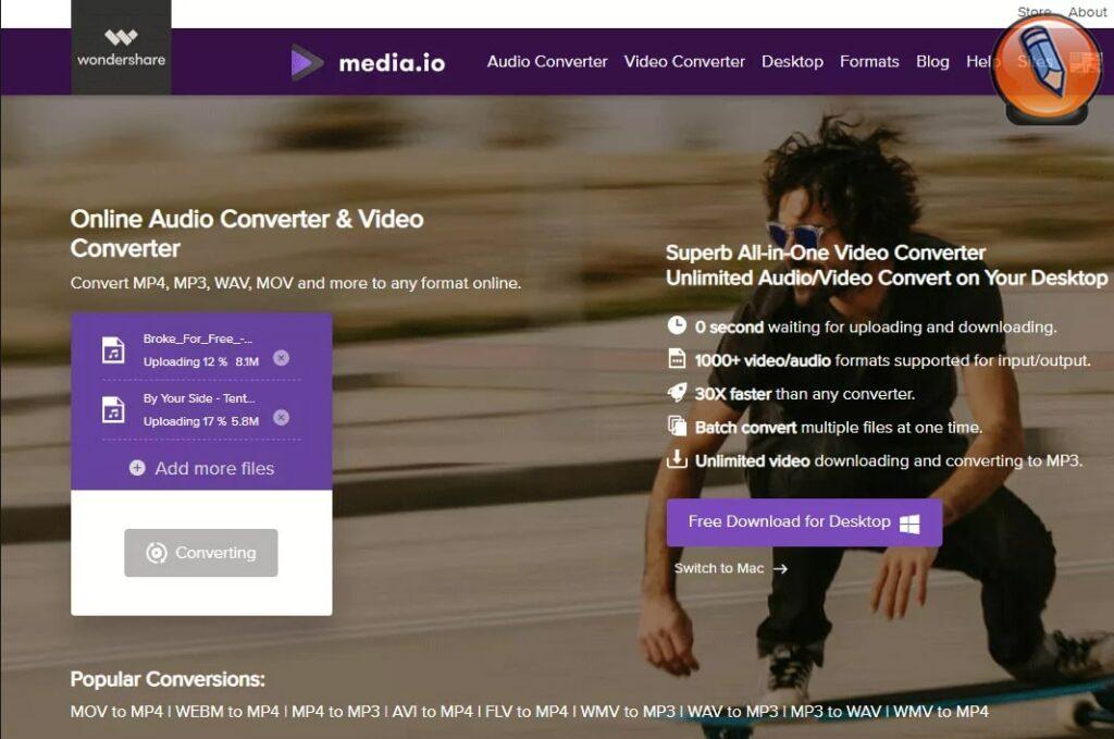 media io free online audio converter