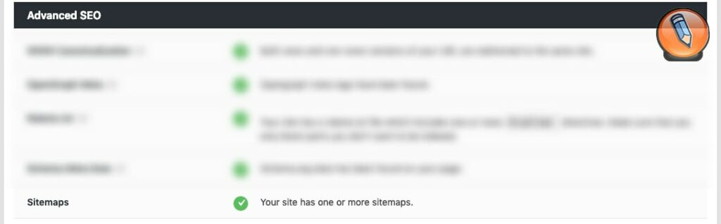 sitemap check in rank math seo audit