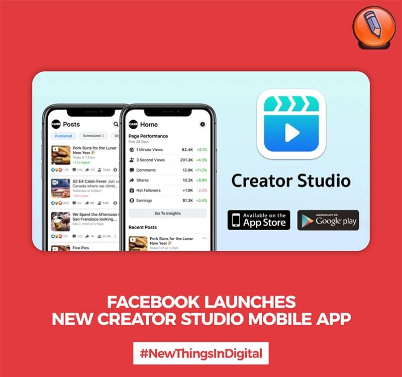 Facebook Запускает Новое Мобильное Приложение Creator Studio