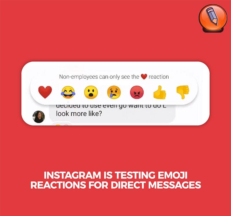 Instagram проверяет реакцию эмодзи на прямые сообщения