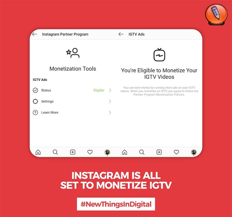Instagram все готово для монетизации IGTV
