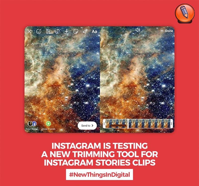 инструмент обрезки для клипов Instagram