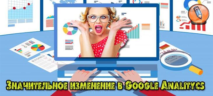 изменение в Google Analitycs