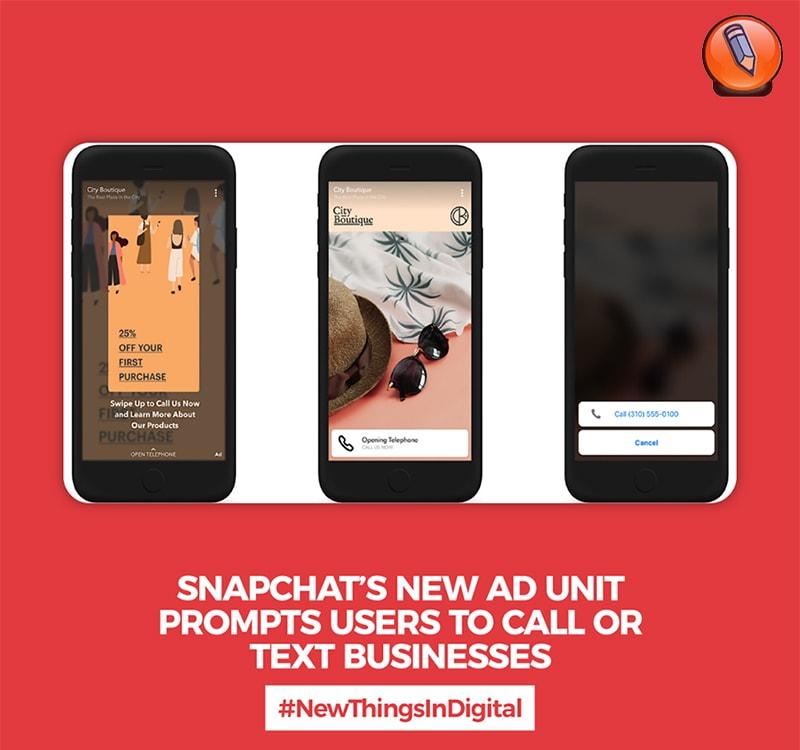 Новый рекламный блок Snapchat
