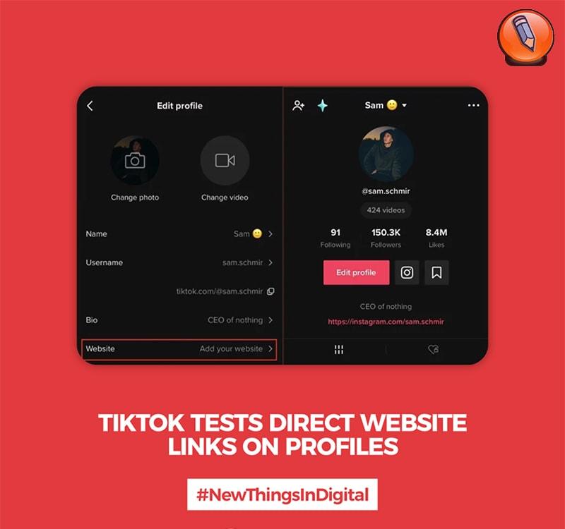TikTok тестирует прямые ссылки на веб-сайты