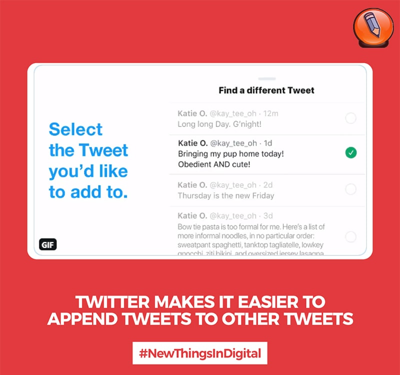 Twitter облегчает добавление твитов