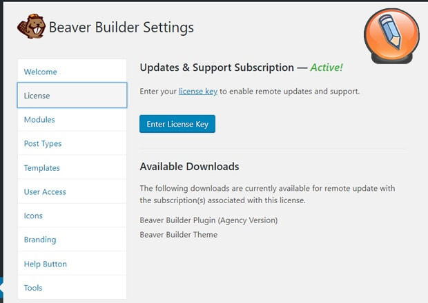 обновление лицензии beaver builder