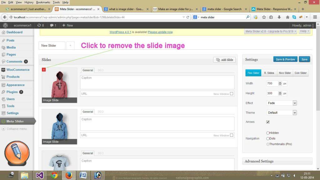 Meta Slider удалить изображение